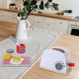 Kid Wooden Simulation Pop-up Toaster Children Toy Pretend Pl