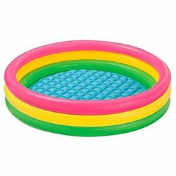 Intex Kiddie Pool - Kid's Summer Sunset Glow Design - 58 x 1