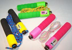 Kids Adjustable Jump Rope W/ Counter Gym Fitness Exercise Sk