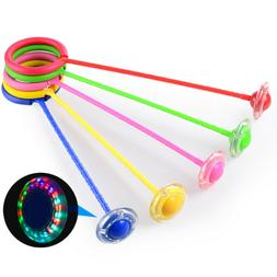 Kids Ankle Skip Ball Toy Flash Jumping Rope Sports Fitness J