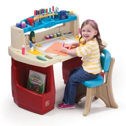Kids Arts And Crafts Table Chair Set With Storage Desk Toddl