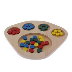 MagiDeal Kids Baby Wooden Learning Color Educational Toys Pu