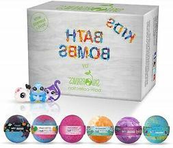 Sky Organics Kids Bath Bombs Gift Set with Surprise Toy Insi