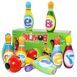 Kids Bowling Play Set Gift Toys For 2,3,4,5 Year Old Boy Gir