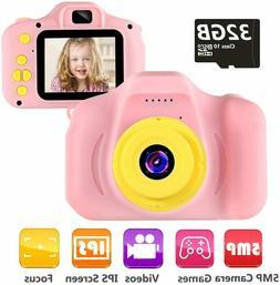 Kids Camera Children Digital Camera Toys 1080P 2 Inch Toddle