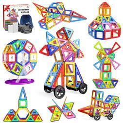 For Kids Children Building Blocks 133 Pcs Magnetic Tiles Toy