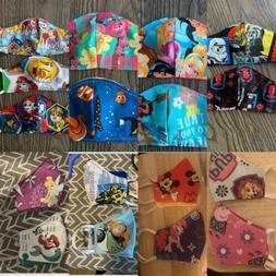 Kids handmade face mask washable cotton USA reusable