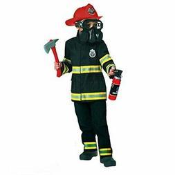 Kids Fire Fighter Costume Emergency Services Boys Fireman Un
