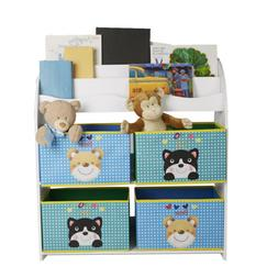 kids organizer for books and toys bin