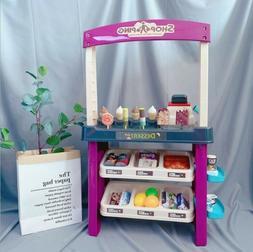 kids simulation ice cream shop dessert cart