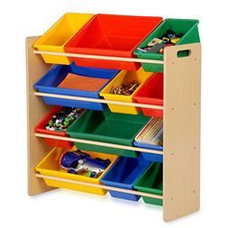 Kids Storage Organizer- 12 Bins- Natural
