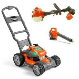 Husqvarna Kids Toy Lawn Mower, Orange + Toy Leaf Blower + To