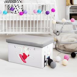 Kids Toy Organizer Storage box Toy Organizer Folding Ottoman