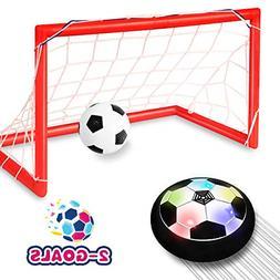 Toyk Kids Toys - LED Hover Soccer Ball Set 2 Goals Mini Scre