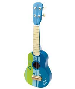 New Hape Kid's Wooden Toy Ukulele in Blue