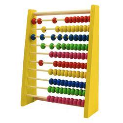 Kids Wooden Bead Abacus Counting Frame Educational Preschool