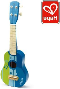 Hape Kids Wooden Ukulele Toy * Brand New In Box * Blue Color