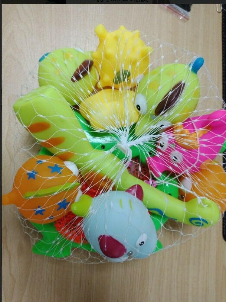 10 pcs animals kids fishing toys soft
