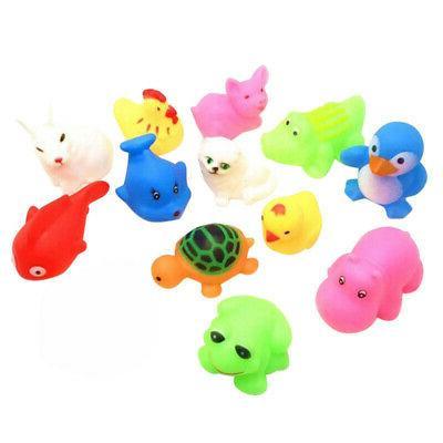 13pcs animals kids babies bath toys children