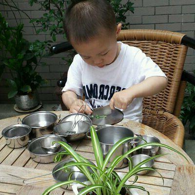 25Pcs Pretend Cookware Cooking Utensil Pan
