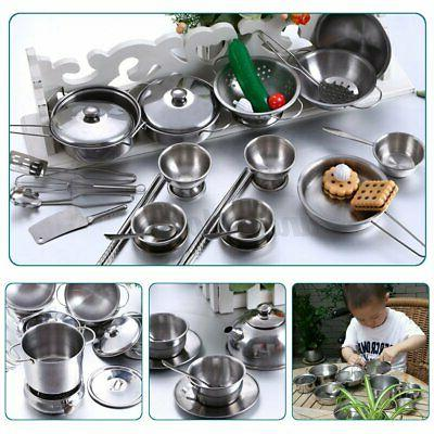 25Pcs Play Kitchen Toy Cookware Pan