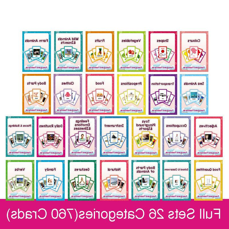 26 categories 760 cards kids learn english