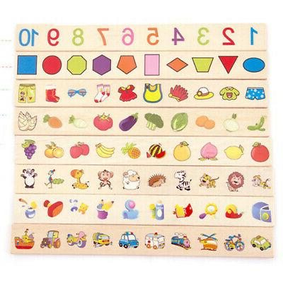 3pcs Montessori Sorting Matching 8