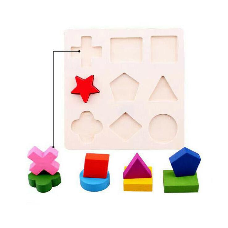 Puzzle Toys Shapes Early Learning Educational