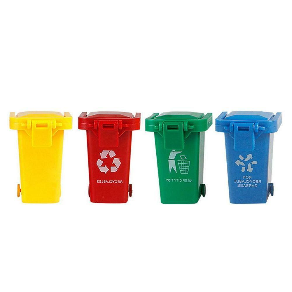 4pcs pack mini trash bin garbage can