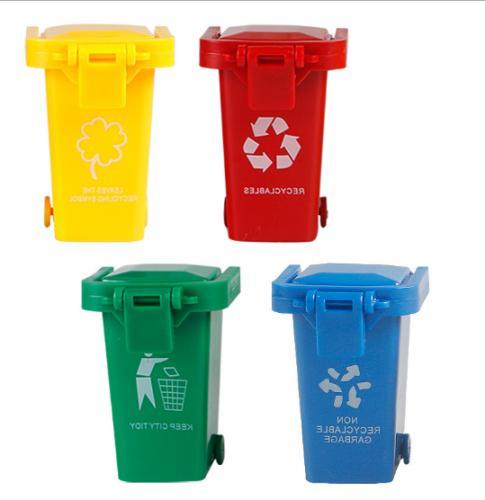 4Pcs/Set Bin Novelty Toys Mini Garbage