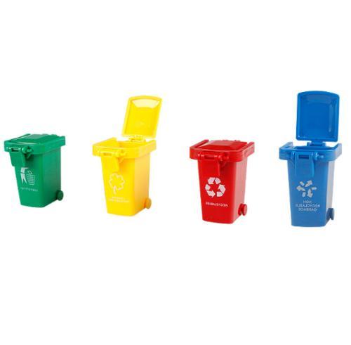 4pcs set kids learning trash bin novelty