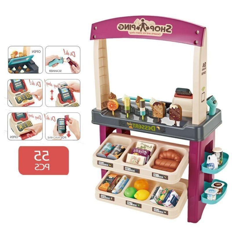 Kids Simulation Shop Dessert Pretend Toy Set Set