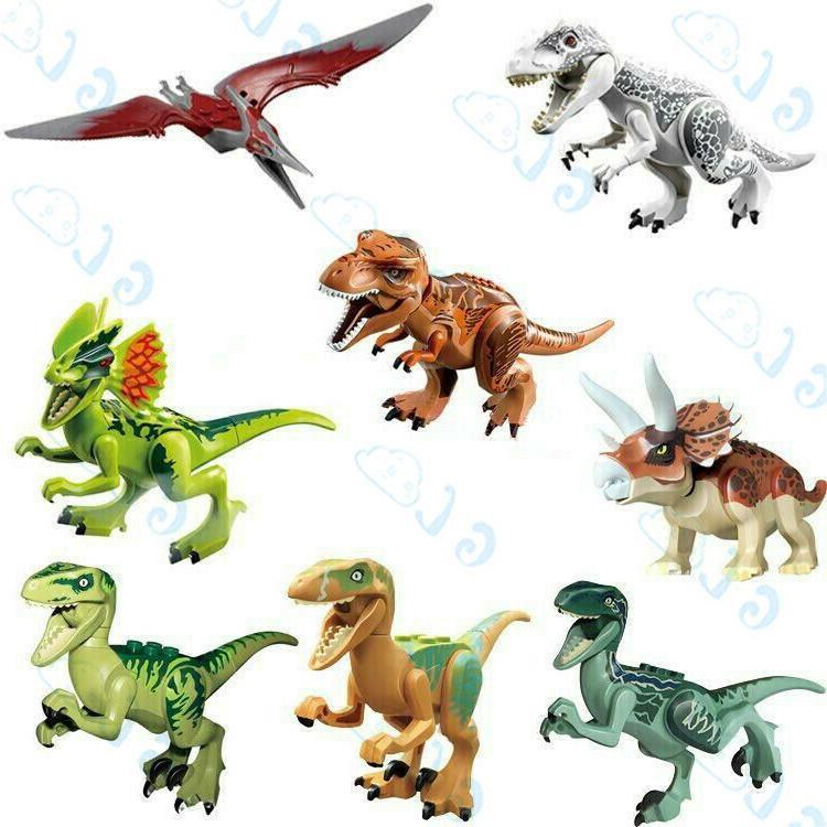 8pcs jurassic world park tyrannosaurus dinosaurs fit