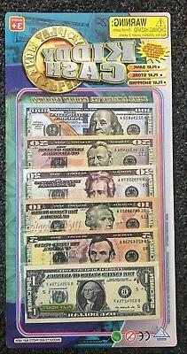 "90 pieces ""PLAY MONEY"" Kids Toy Cash Paper Dollar Bills Part"