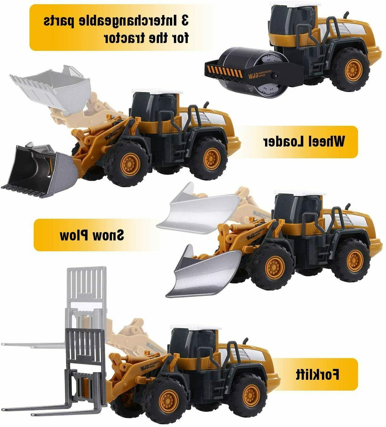 Alloy Truck Toys Set Kids Boys Engineering Truck Playset