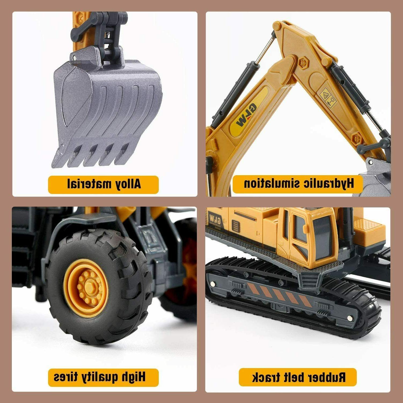 Alloy Vehicles Truck Toys Set Engineering Truck