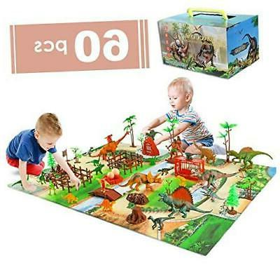 baccow 60pcs kids dinosaur toys for age