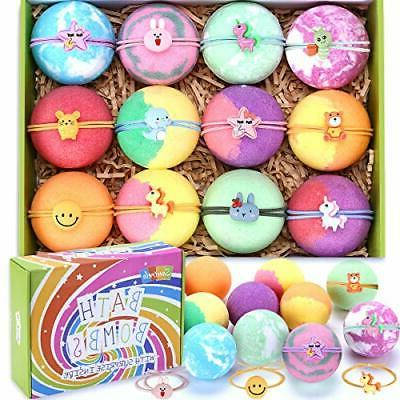 bath bombs for kids with toys inside