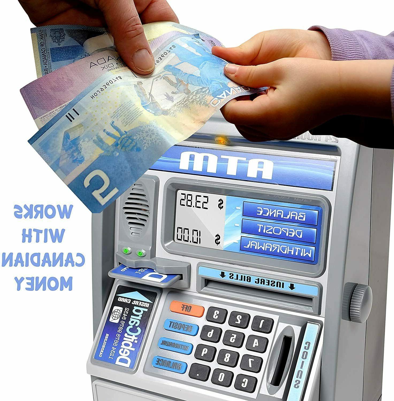 Ben Franklin Talking ATM Savings Piggy Bank Scree