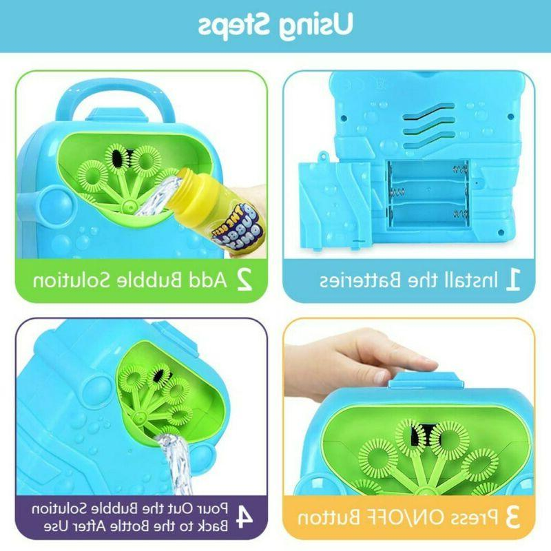 Bubble Blower Machine Toy Water Summer Automatic
