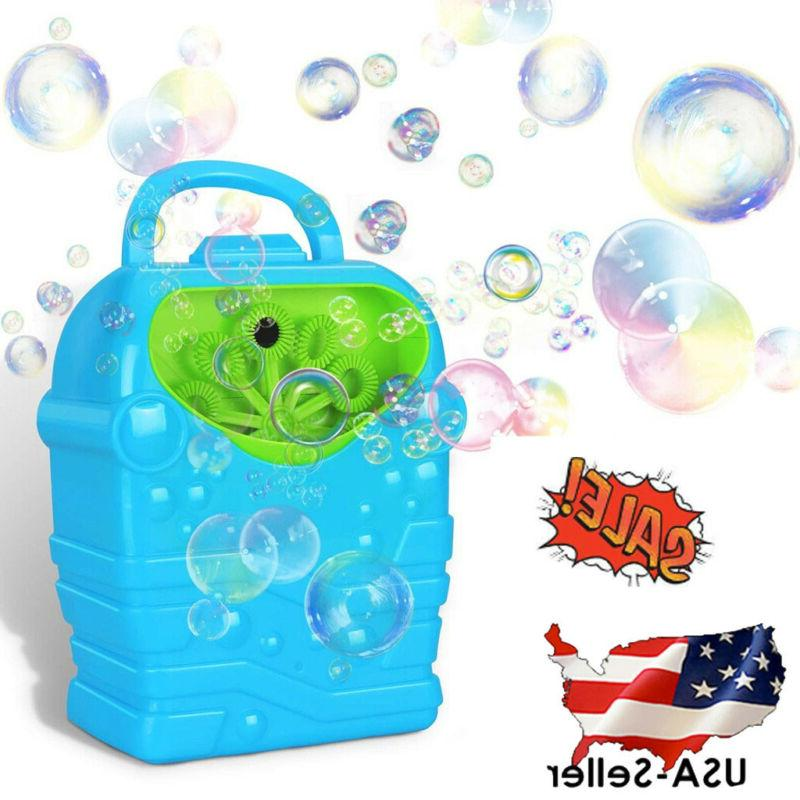 bubble blower fan machine toy kids soap