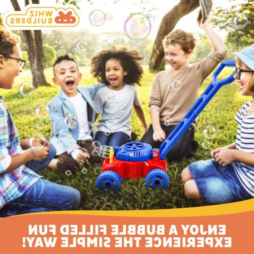 WhizBuilders Bubble Mower Toddlers Kids 2-4 Outdoor -