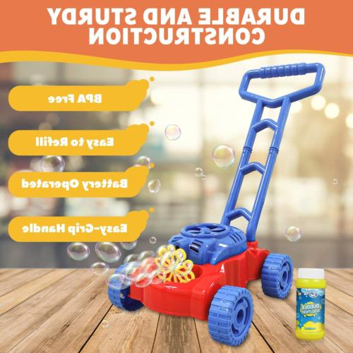 WhizBuilders Machine Lawn Mower for Toddlers Kids Age 2-4 Outdoor