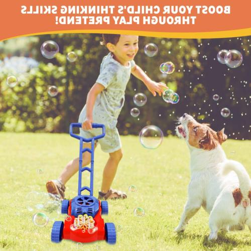 WhizBuilders Bubble Machine Lawn Mower Outdoor -