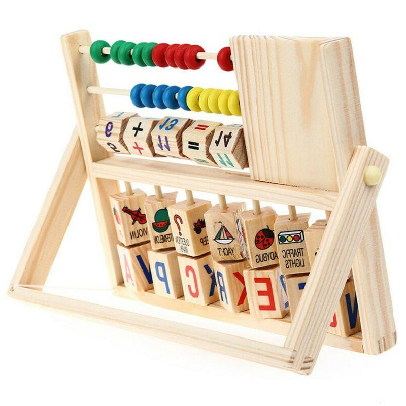 kids baby wooden early education math developmental