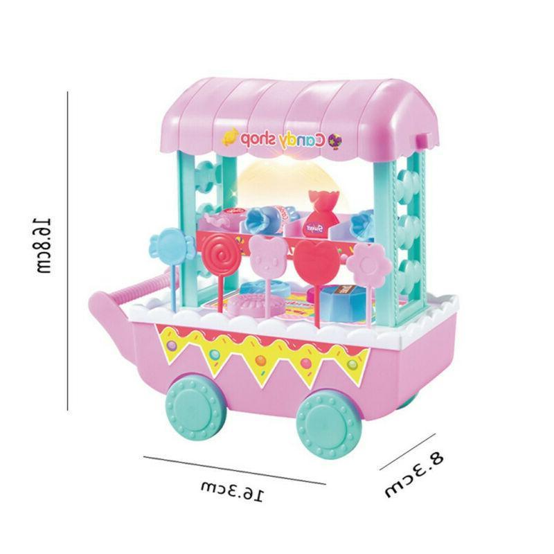 Kids Simulation Ice Shop Cart Toy Set Toys Gift