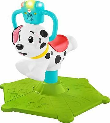 fisher price bounce and spin puppy white