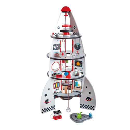 Hape Four-Stage Durable Wooden and Spaceship Toy
