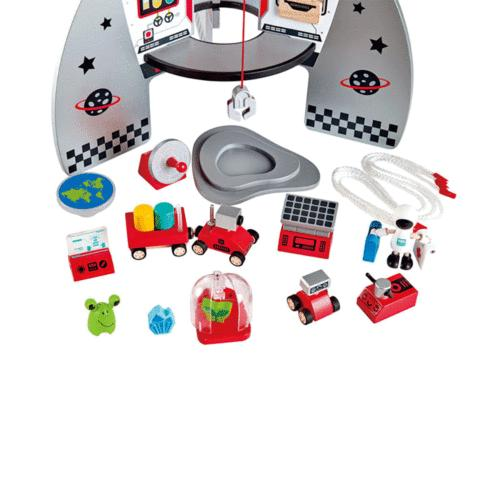 Hape Four-Stage Piece Durable and Spaceship Toy Children