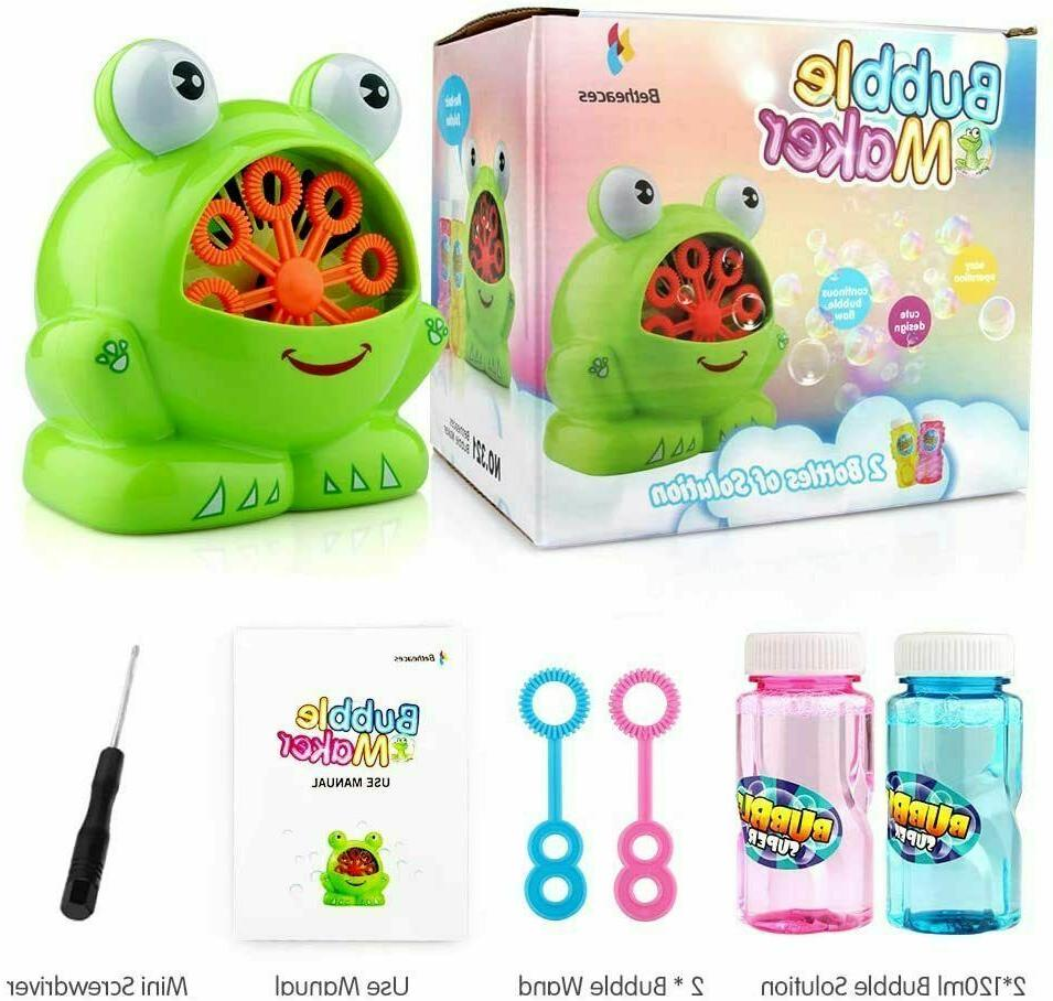 Betheaces Shaped Bubble Machine Summer Toy for Kids